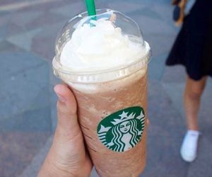 starbucks, friends, and frappe image