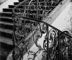 stairs, black and white, and photography image