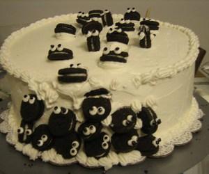 cake, oreo, and food image