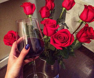 rose, wine, and red image