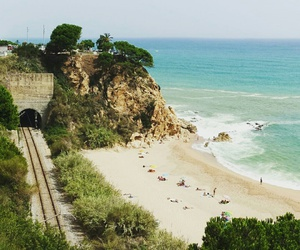 beach, spain, and summer image