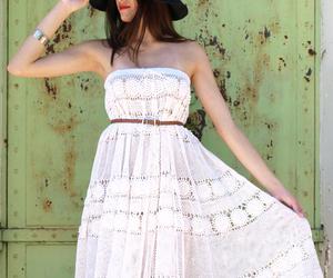 crochet, dress, and fashion image
