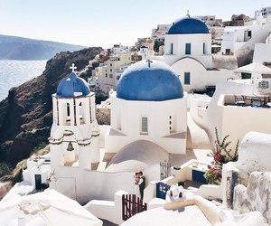 Greece, santorini, and beautifully image