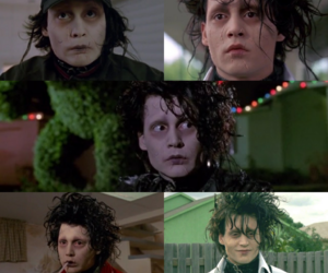 90s, edward scissorhands, and johnny depp image