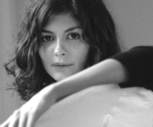audrey tautou, black and white, and girl image