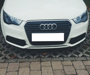 baby, white, and audi a1 image