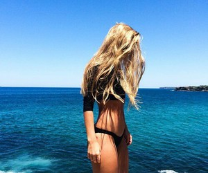 beach, hairstyle, and photography image