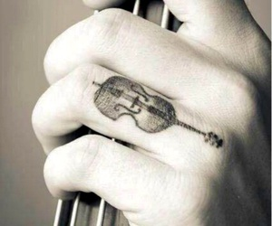tattoo, music, and violin image