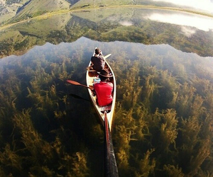 lake, nature, and adventure image