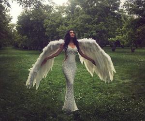 angel, girl, and dress image