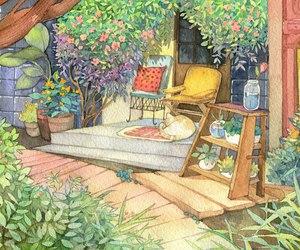 flowers, illustration, and plants image