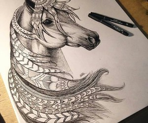 horse, art, and animal image