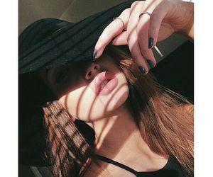 black, hat, and hide image