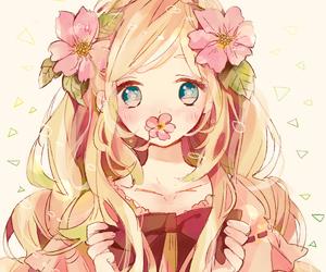 anime, flowers, and kawaii image