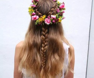 hair, braid, and beautiful image