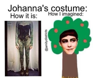 costume, tree, and catching fire image