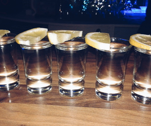 night, shot, and tequila image