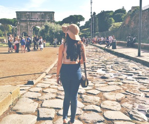 fashion, hat, and rome image