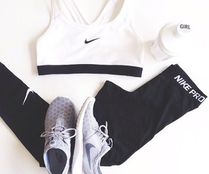 fashion, nike, and fit image