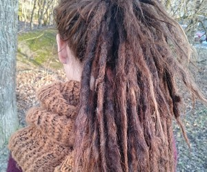 autumn, dreadlocks, and forest style image