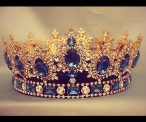 crown, Queen, and blue image