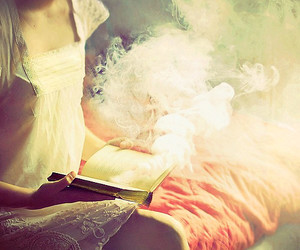 book, reading, and smoke image
