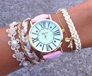 bracelet, girly, and watch image