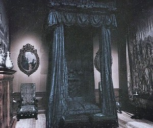 bed, gothic, and spooky image