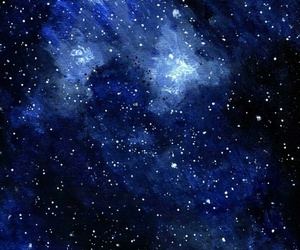 art, blue, and space image
