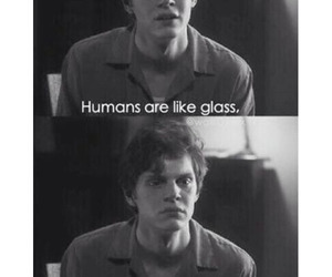 black and white, c, and evan peters image