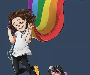 Harry Styles, one direction, and fanart image