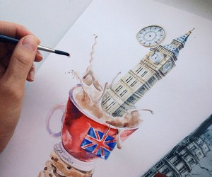 creative, london, and painting image