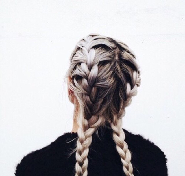Adorable Black Blonde Braid Braided Braids Cute Dark Roots Fashion Girl Girly Hair Hairstyle Ombre Piercings Pigtails Pretty Sweater Tumblr Quality Image 3249435 By