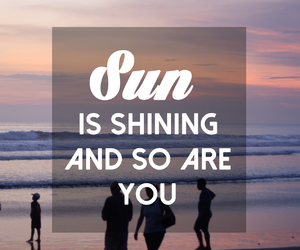 quote, Lyrics, and sun image