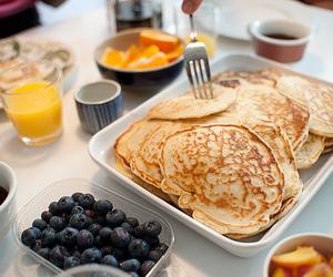 food, pancakes, and breakfast image