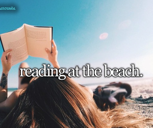 beach, books, and summer image