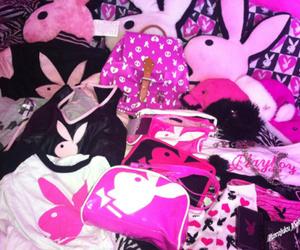 bunny, pillows, and Playboy image
