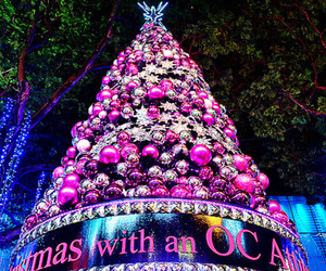 pink, christmas, and girly image