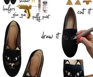 diy, shoes, and cat image