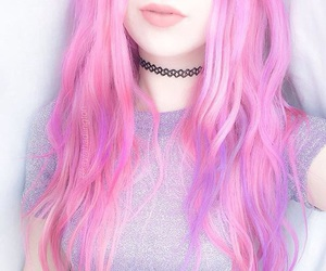fashion, hairs, and pink image