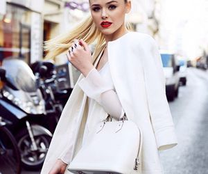 fashion, blonde, and white image