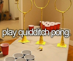 quidditch, harry potter, and pong image