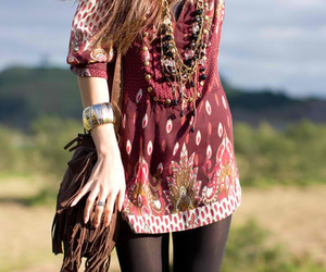 fashion, hippie, and dress image
