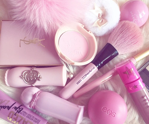 pink, makeup, and mac image