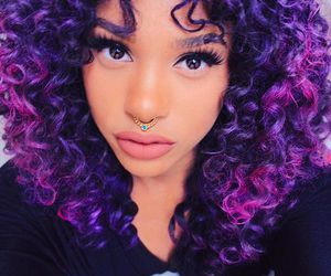 hair, purple, and pretty image