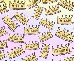 crown, wallpaper, and i'm queen image