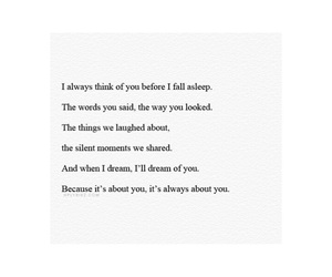 quotes, about you, and dream of you image