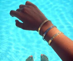 summer, blue, and bracelet image