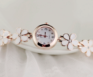 accessory, flower, and watch image