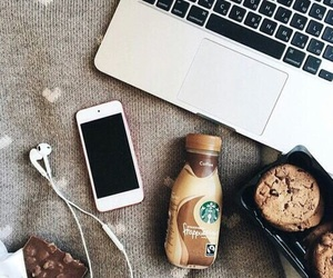 apple, blogger, and coffee image
